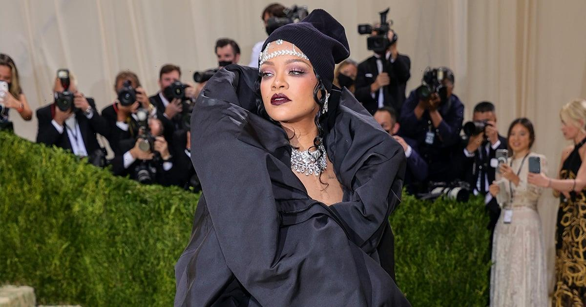 Rihanna Has Arrived at the Met Gala, and She Sure Looks Cozy in Her Parka Gown and Beanie