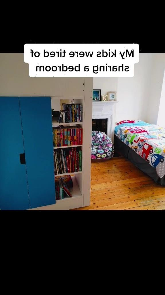 Savvy mum turns Ikea bookcase into stunning room divider so her son and daughter both get their own space
