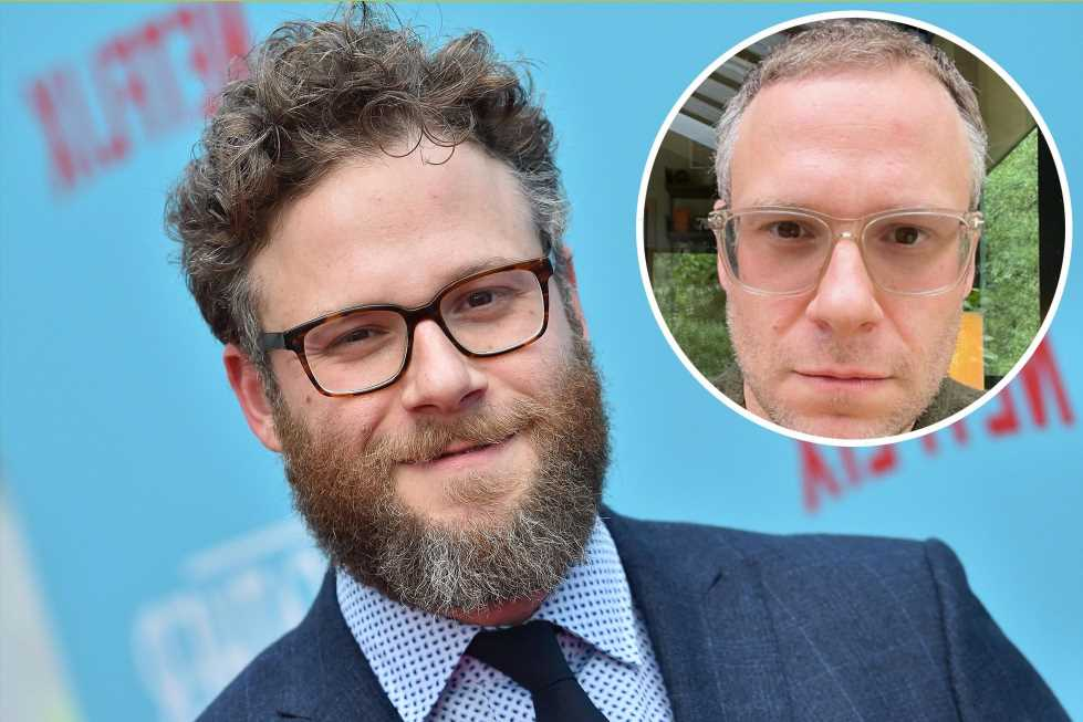 Seth Rogen shaves off his beard and hair: 'Same smoldering look'