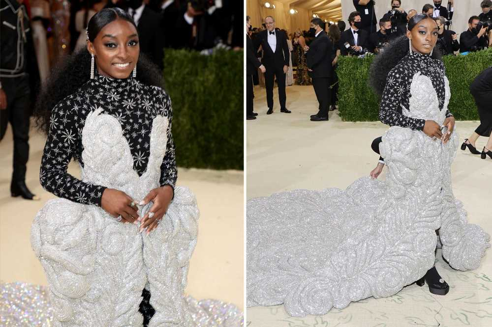Simone Biles' showgirl-inspired 2021 Met Gala dress weighed 88 pounds