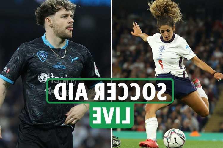 Soccer Aid 2021 LIVE – England vs World XI: Latest as Kem Cetinay SCORES past Joel Dommett in goal – stream, TV, teams