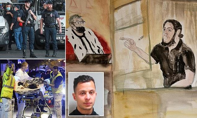 Terrorist in court over 2015 Paris attacks has his mic switched off