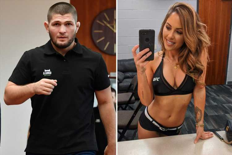 UFC ring girl Brittney Palmer hits back at Khabib after he calls octagon models 'most useless people in MMA'