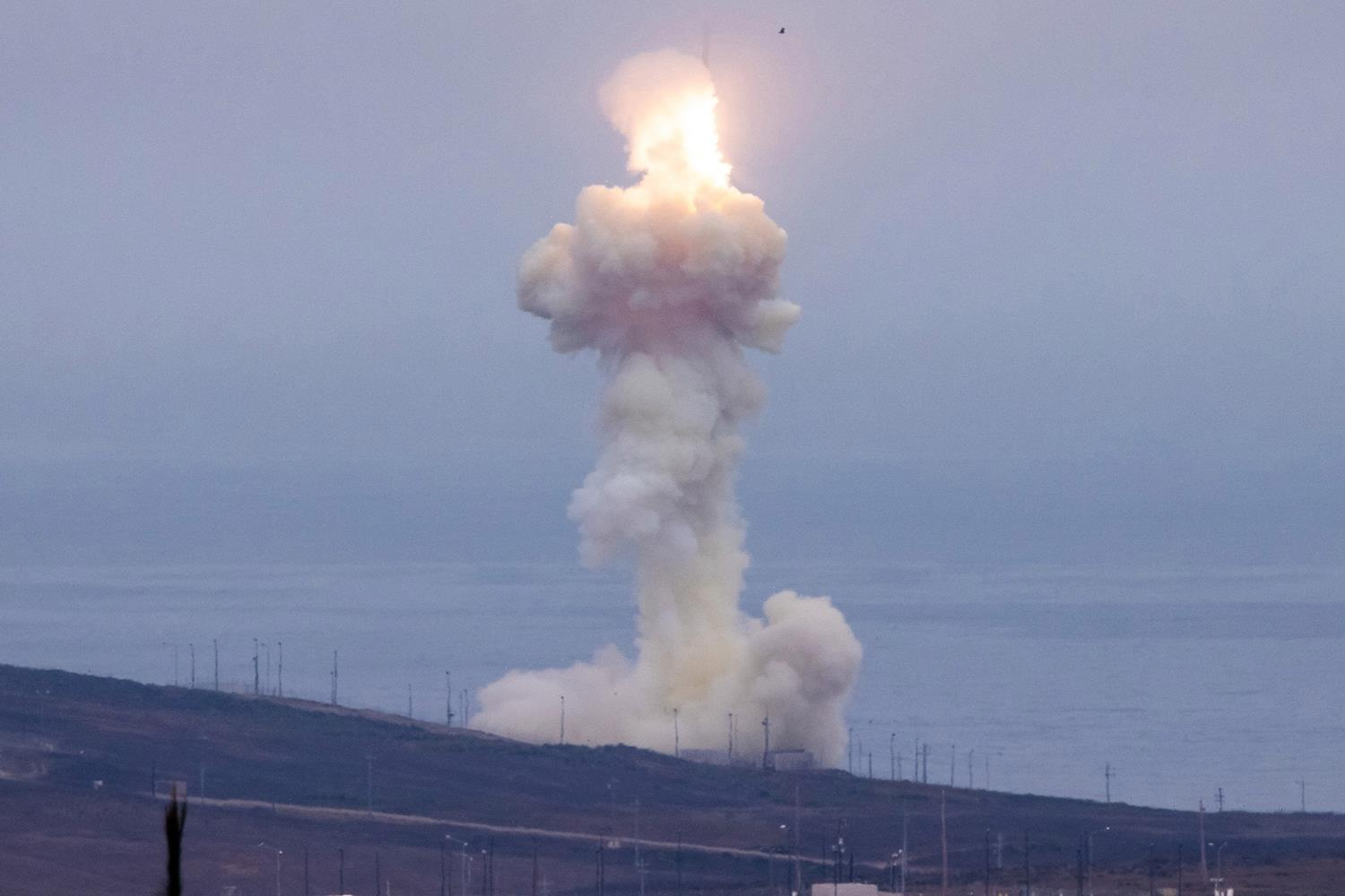 US conducts interceptor missile test with launch at Vandenberg Space Force Base as part of long-range attack defense