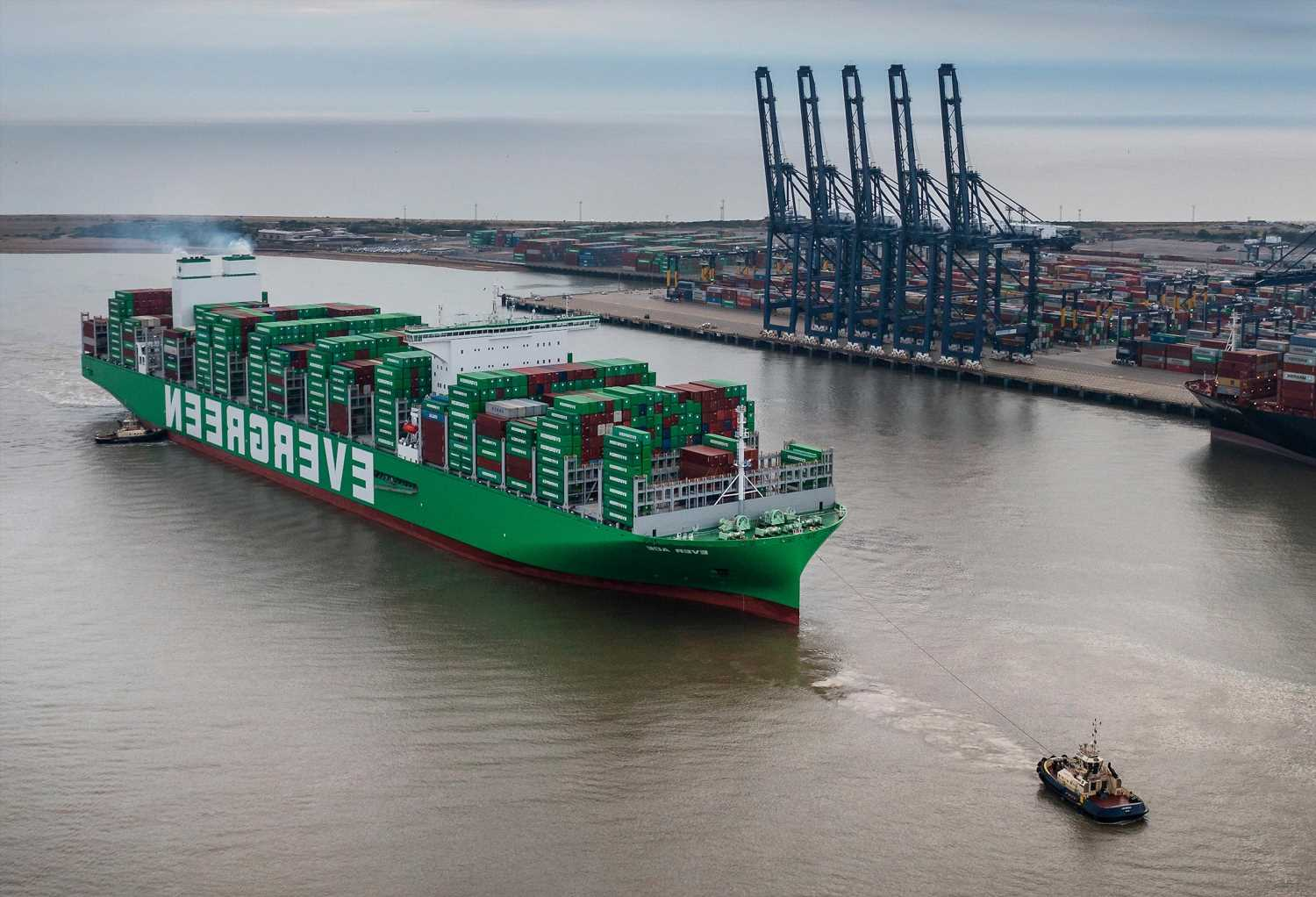 World's largest cargo ship Ever Ace arrives in the UK packed with Christmas gifts
