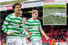 Aberdeen fan, 13, charged over 'launching plastic bottle at Celtic players'