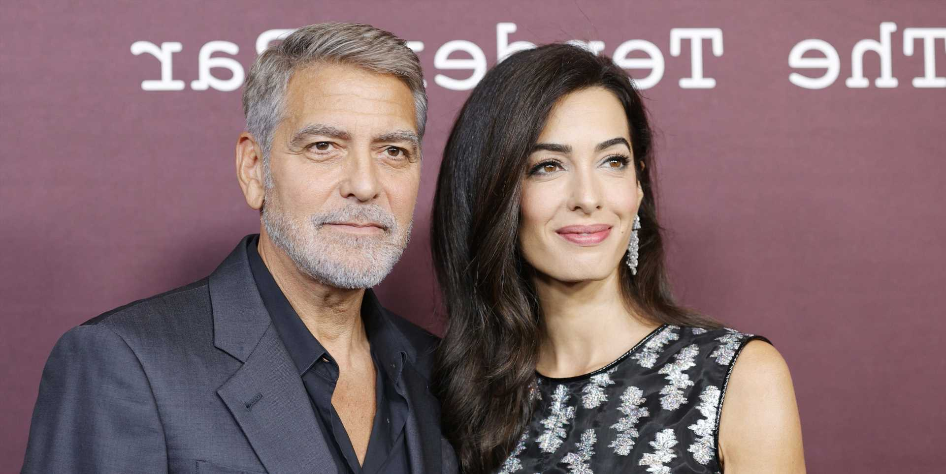 Amal Clooney Wore a Gorgeous Cutout Dress With George for 'The Tender Bar' Premiere