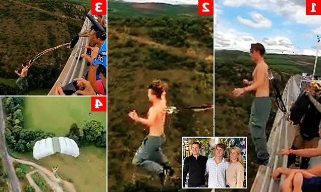 Bear Grylls' son and the parachute stunt that was too mad even for dad
