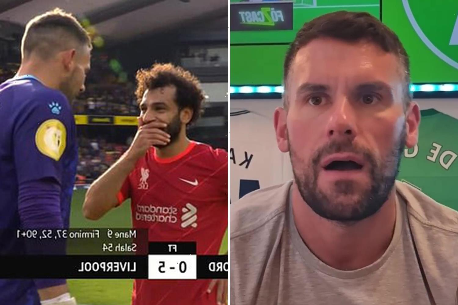 Ben Foster reveals 'cheeky' Salah asked him which way he'd dive to save his penalties after Liverpool clash with Watford