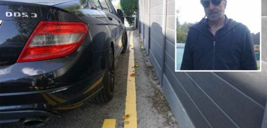 Businessman, 58, furious after jobsworth council worker paints double yellow lines around his wife's car