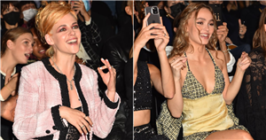 Chanel Puts on a Totally '90s Show With K-Stew, Lily-Rose Depp, and Jennie Kim in Full Support