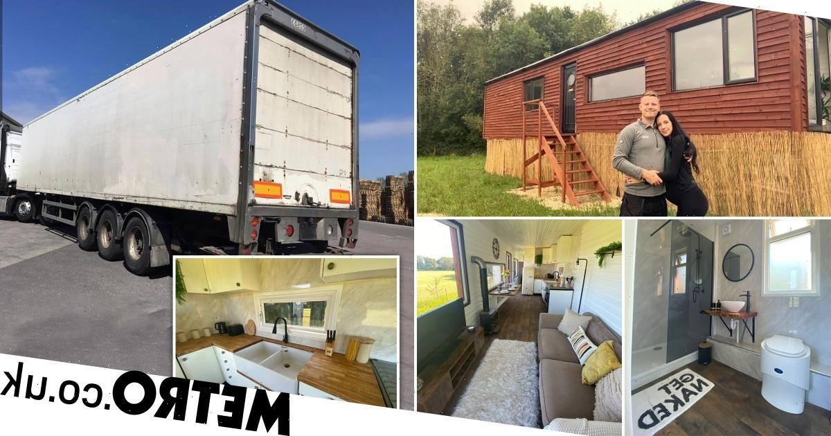 Couple transform old lorry trailer into dreamy home – now they're raffling it