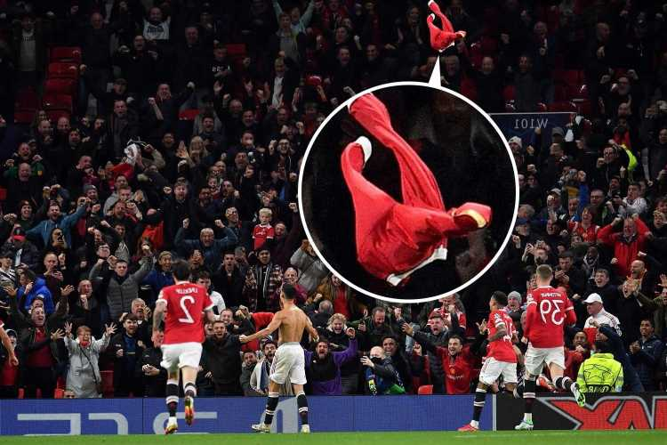 Cristiano Ronaldo 'almost throws shirt out of stadium' in passionate celebration after Man Utd winner vs Villarreal