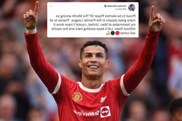 Cristiano Ronaldo breaks silence after winning Prem player of the month ahead of Salah after 13-year gap between awards