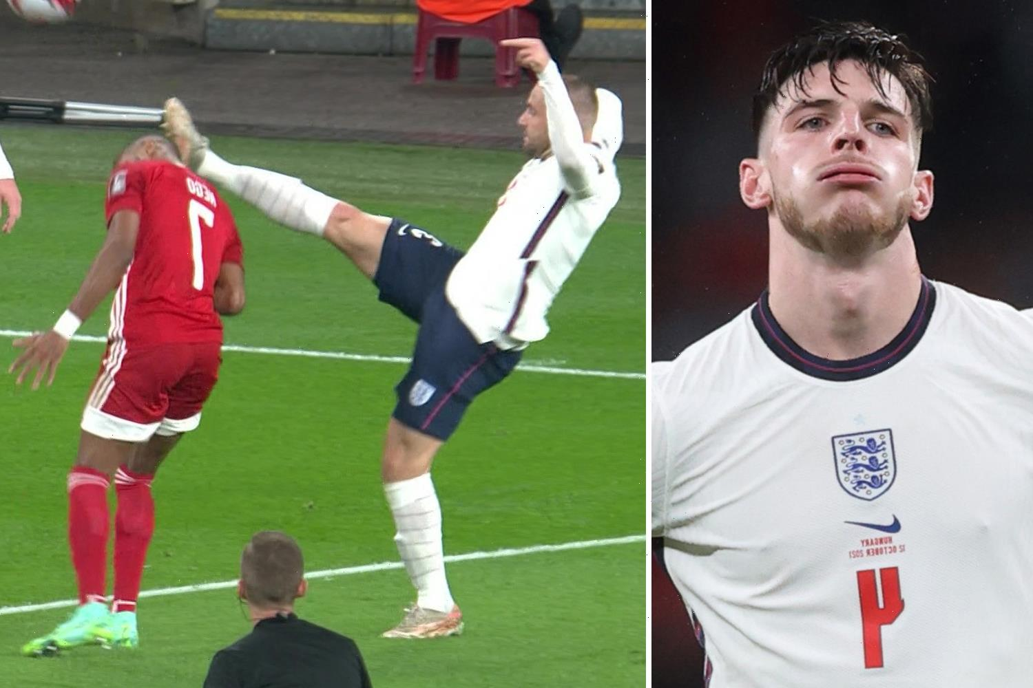 Declan Rice slams Hungary star as 'pathetic' after his dramatic reaction won penalty against England in drab 1-1 draw