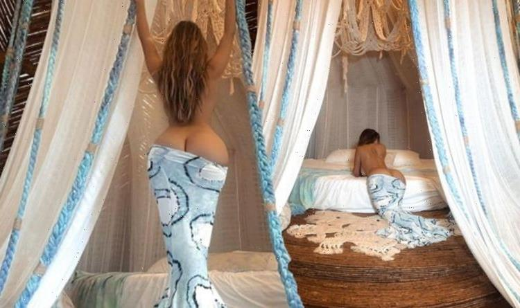 Demi Rose puts curvaceous derriere on display in jaw-dropping mermaid inspired bottoms