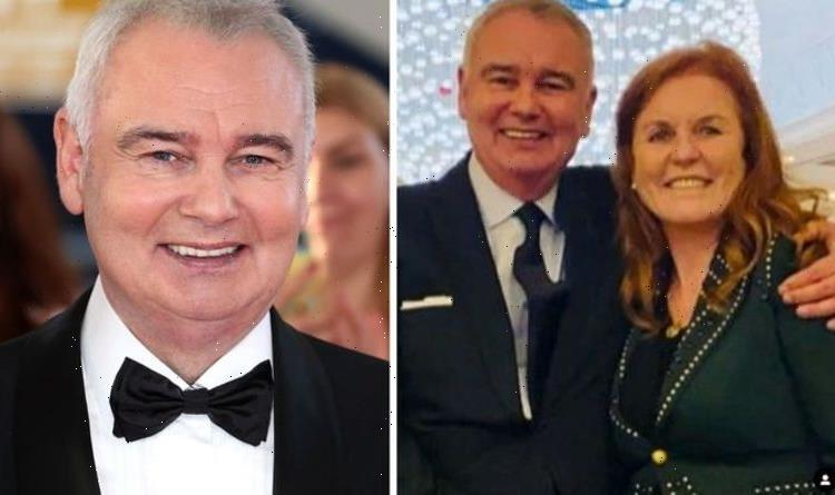 Eamonn Holmes seen with arm around Fergie after their great afternoon – Always fun!