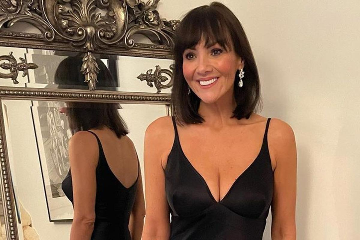 Ex EastEnders star Martine McCutcheon, 45, stuns in slinky black dress