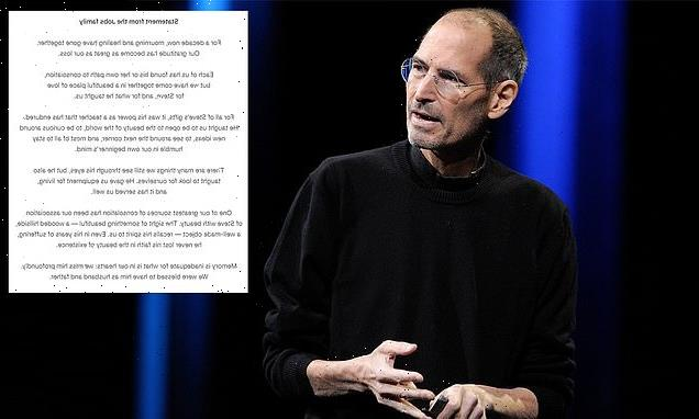 Family of Steve Jobs releases emotional statement on 10th anniversary