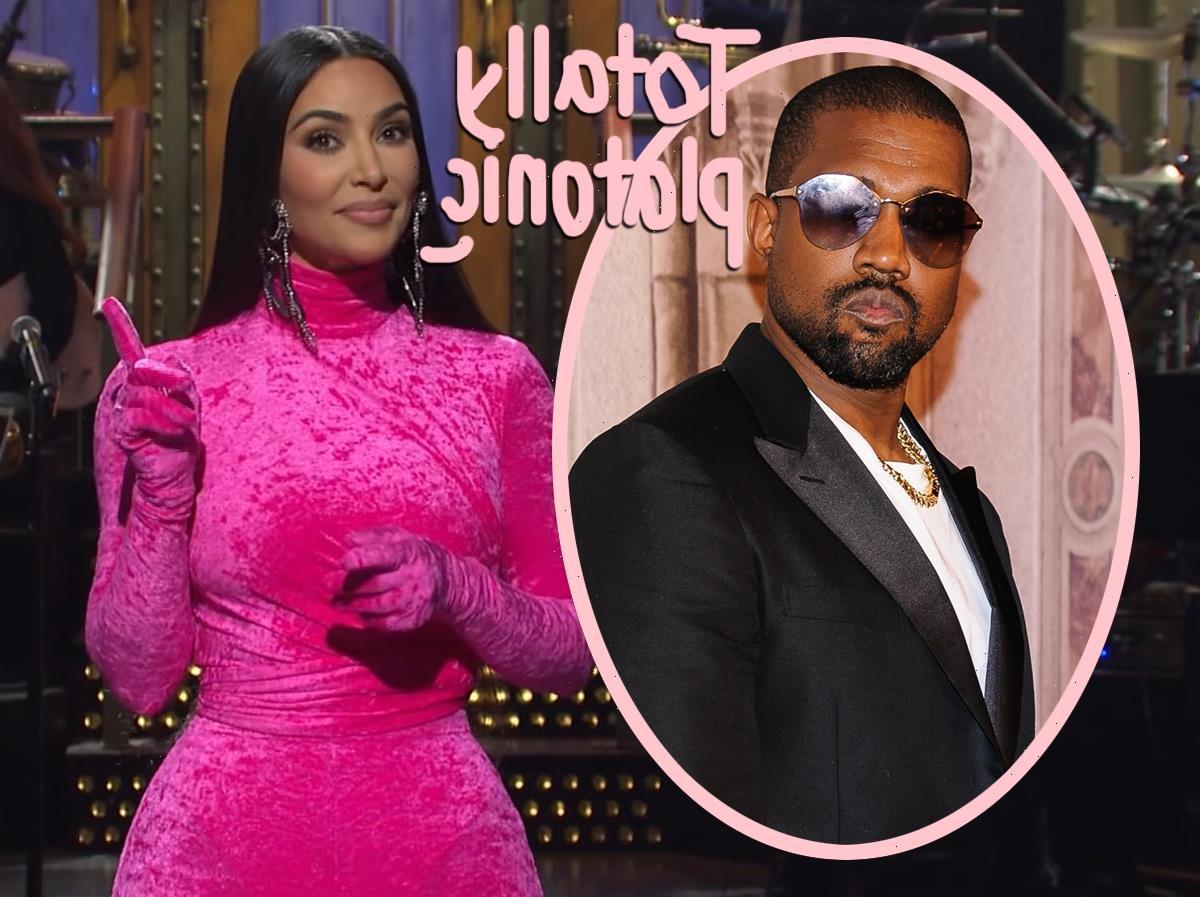 Kim Kardashian & Kanye West Are Just 'Friends' Despite SNL Romance Rumors