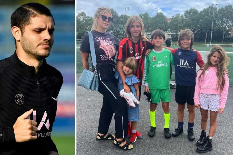 Mauro Icardi misses PSG training after split from Wanda Nara as she leaves with kids on jet following cheating claims
