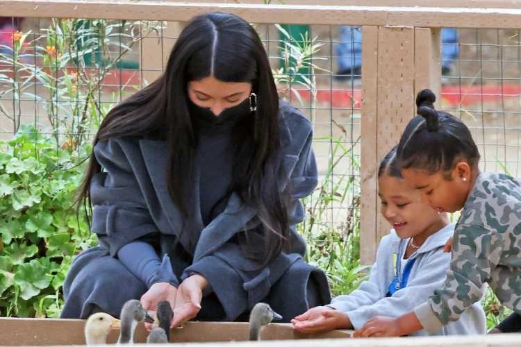 Pregnant Kylie Jenner takes daughter Stormi & Khloe Kardashian's tot True, both 3, to pumpkin patch without Travis Scott