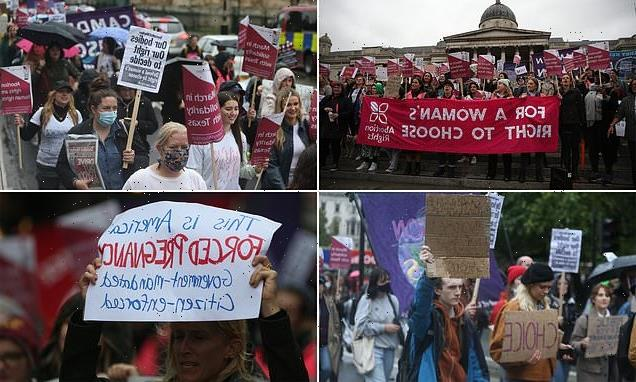 Protestors march through London against abortion ban in Texas