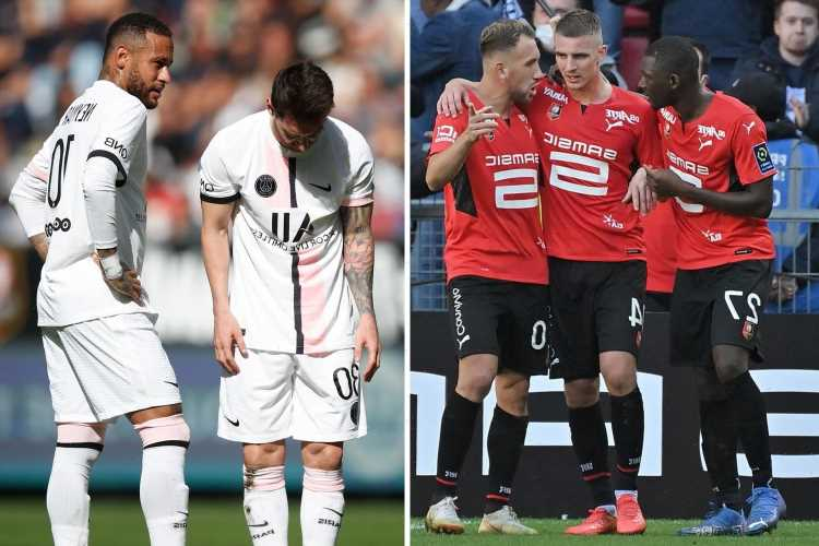 Rennes 2 PSG 0: Lionel Messi brought back to earth with a bump as PSG suffer shock loss days after taking down Man City