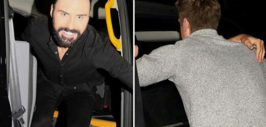 Rylan seen in high spirits as he hugs mystery man through car window after Strictly's It Takes Two