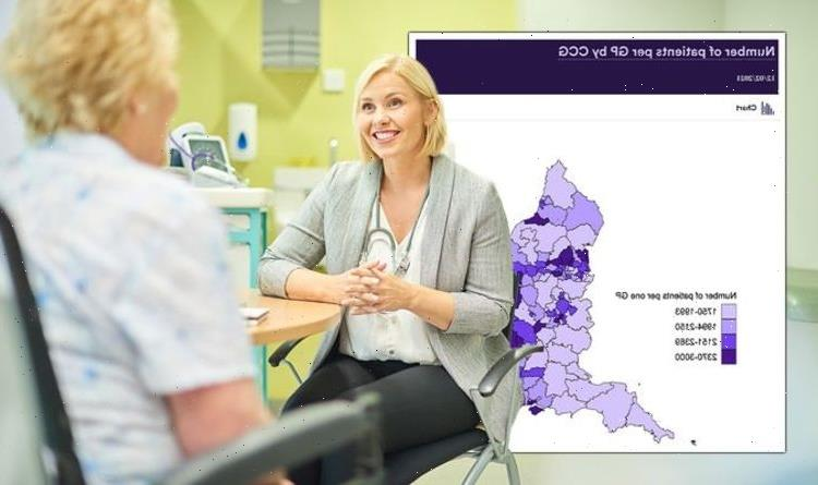Shocking map shows just how few GPs there are as Government fails to hit targets
