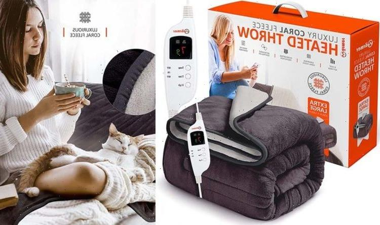 Snug, soft and so warm: Amazon slashes over 30 percent off electric blankets and throws