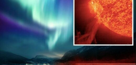 UK issues 'amber alert' as solar storm to beam Northern Lights across sky TONIGHT